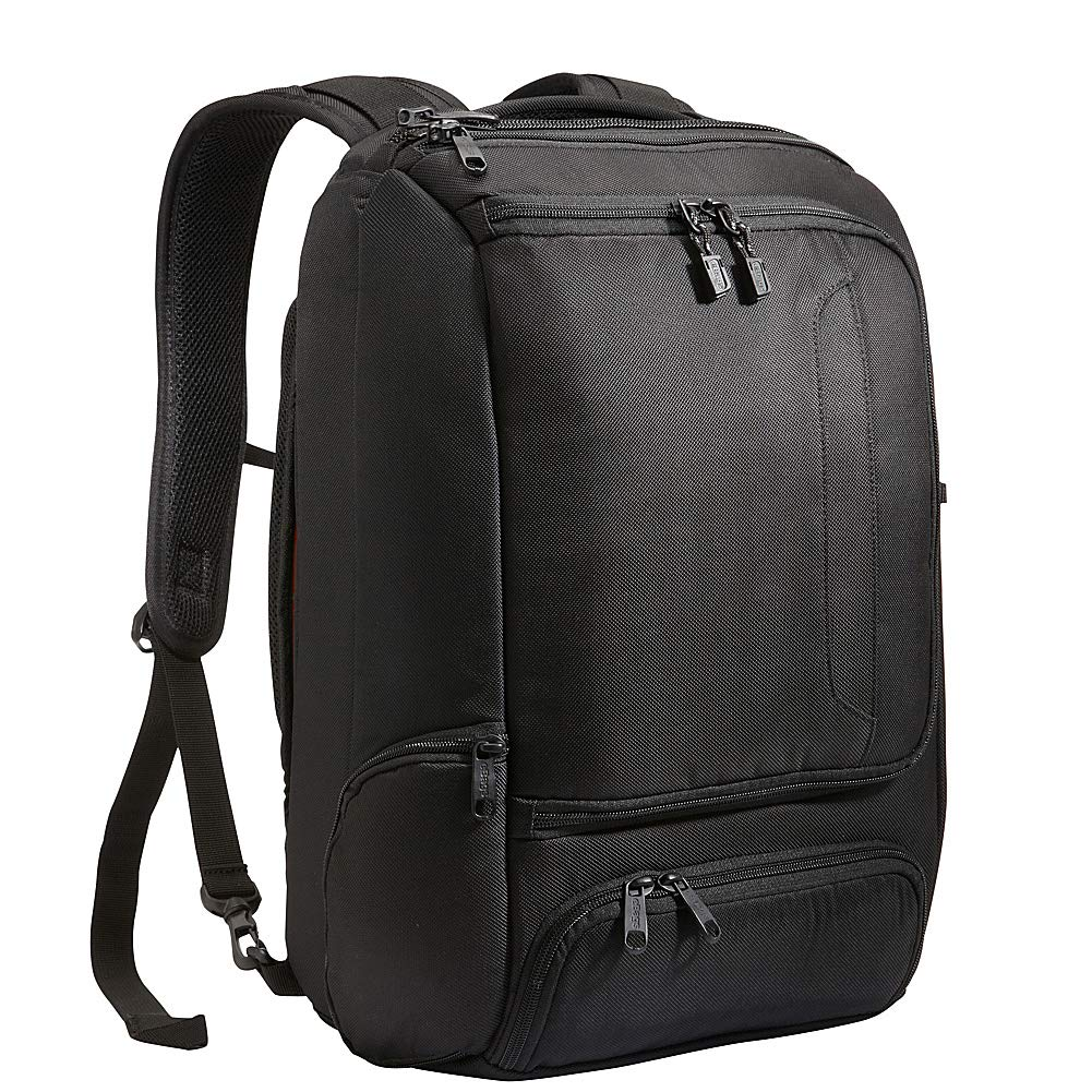 eBags Professional Slim Laptop Backpack for Travel, School & Business - Fits 17'' Laptop - Anti-Theft - (Solid Black) by eBags