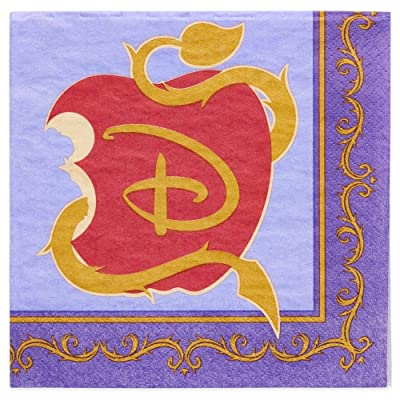 "Disney ""Descendants 2"" Lunch Napkins (16 per pkg): Toys & Games"