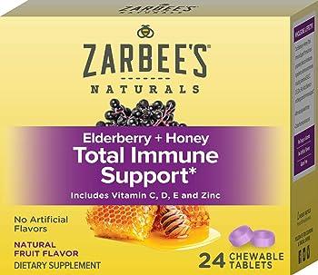 24-Count Zarbees Adult Elderberry Plus Honey Immune Support