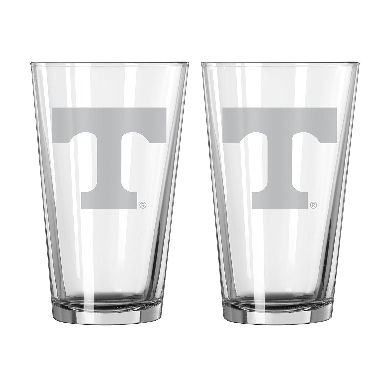 Boelter Brands NCAA Unisex NCAA 16-Ounce Satin Etch Pint Glass 2-Pack