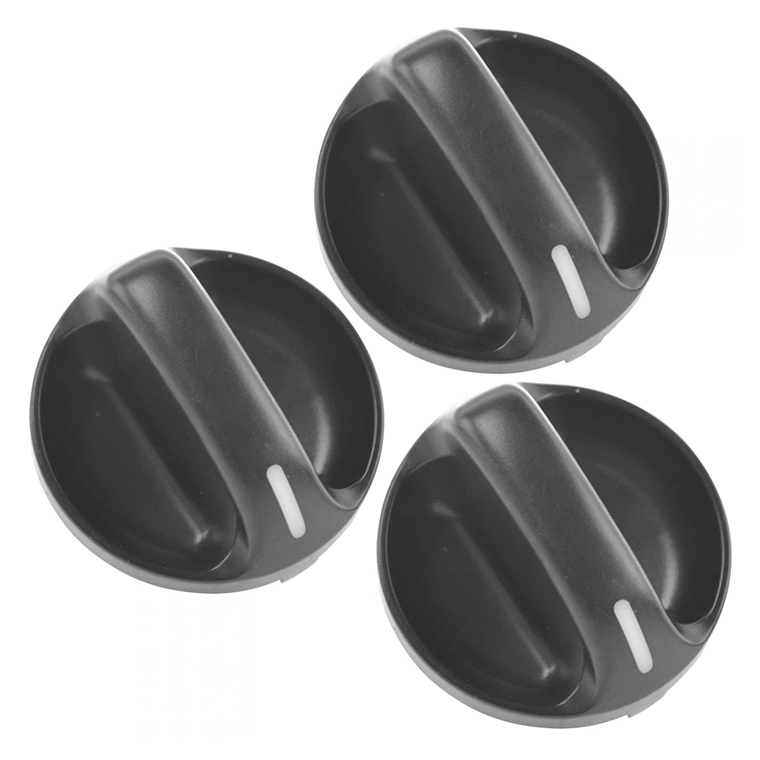 Heater & A/C Control Knob Black Set of 3 for 00-06 Toyota Tundra Brand AM Autoparts