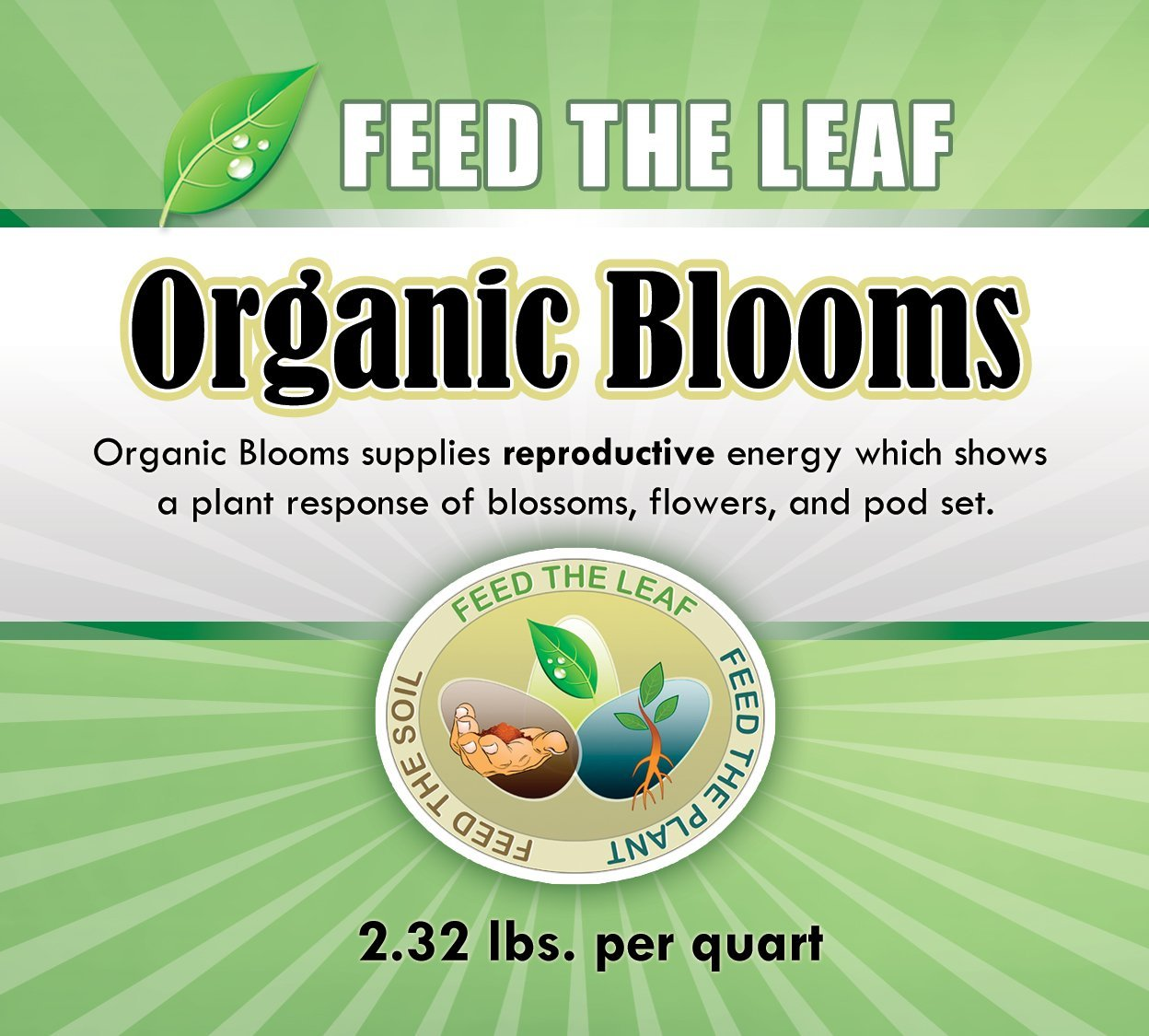 Organic Blooms - With a Simple Foliar Spray You can Initiate Flowering On Demand. Just Mix with Water and Lightly Mist Strawberries, Flowers, Tomatoes, and all Reproductive Crops. 32 Oz.