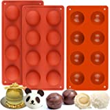 Mity rain (3 Packs) 8 Cavity Semi Silicone Mold/Chocolate Bombs Mold/Round Shape Half Sphere Mold for Cake, Jelly…