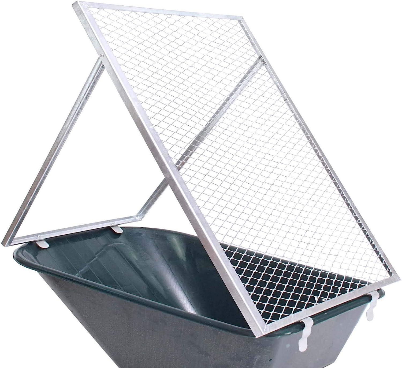 Kompostsieb Durchwurfsieb 100x60cm Schubkarrensieb Durchwurfgitter MW 20x20mm