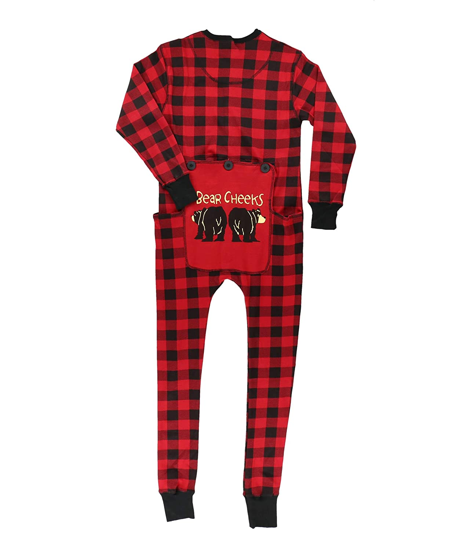 3dbd87bb129ed3 Family Matching Christmas Pajamas by LazyOne | Bear Cheeks Holiday PJ Onsie  at Amazon Women's Clothing store: