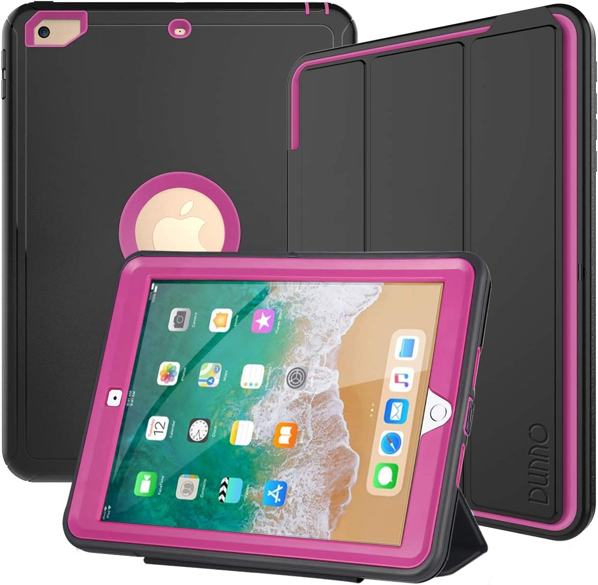 Ultra Thin Smart Leather Ipad Protective Case Aerial View Sandy Beach for Ipad 2017//2018 9.7 Inch//Ipad Mini 7.9 Inch with Automatic Sleep//Wake Function