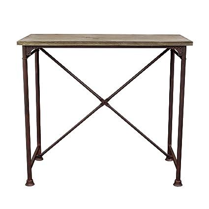 Surprising Amazon Com Dixon Vintage Rectangular Bar Table With Machost Co Dining Chair Design Ideas Machostcouk