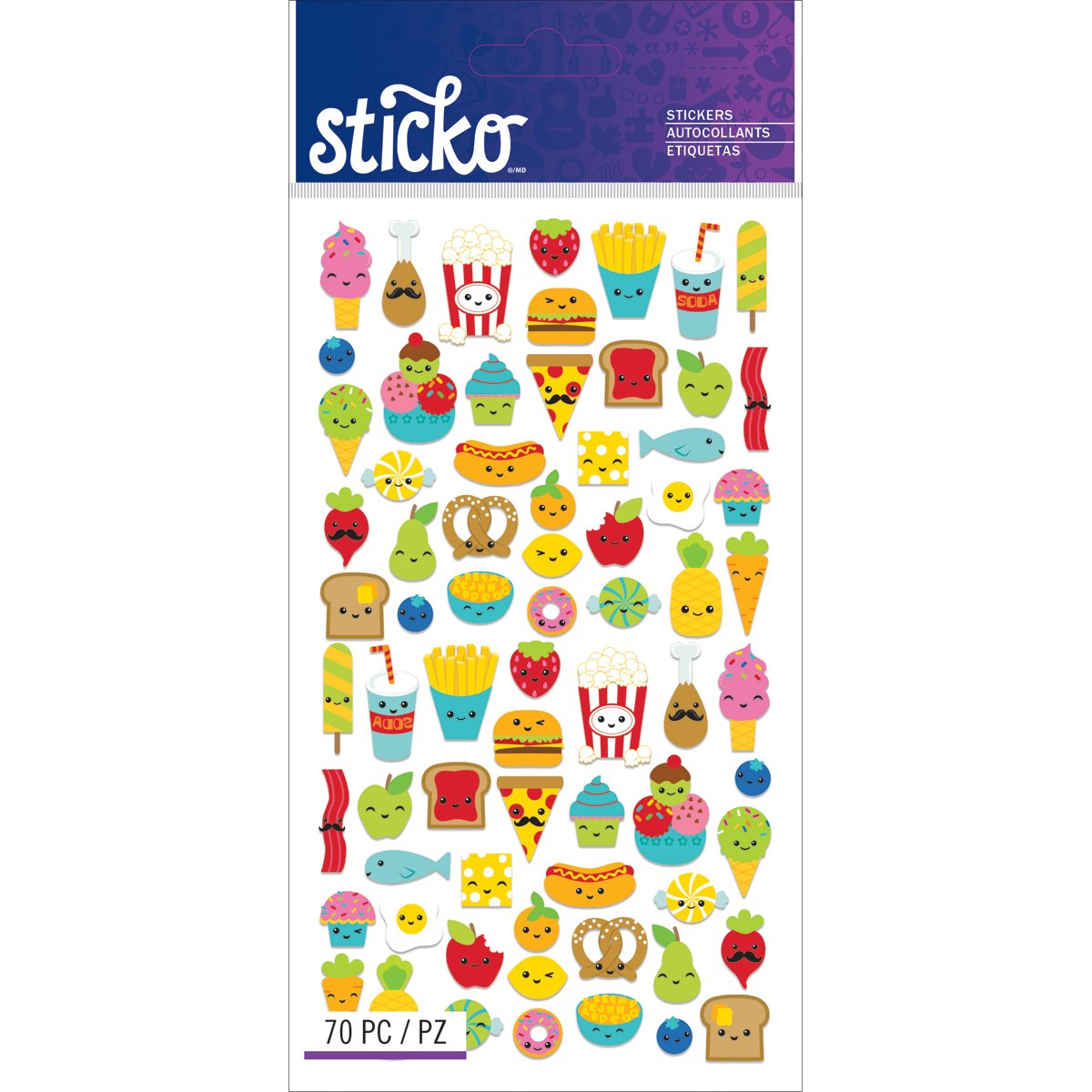 Amazon com sticko classic mini food characters stickers