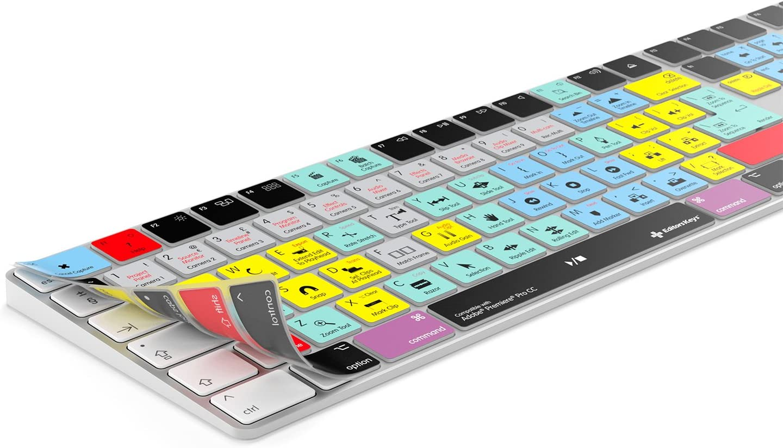 Funda para teclado Adobe Premiere Pro para Apple Magic Keyboard compatible con teclado mágico inalámbrico con teclado numérico