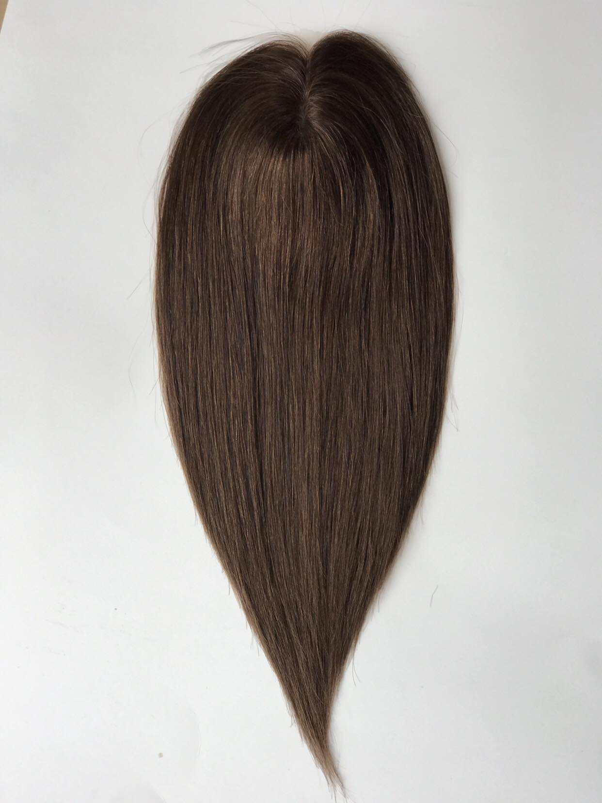 Uniwigs 5.5''×5.5'' Remy Human Hair piece, Lace front and Silk Base Topper, Straight Hairpiece,16 Inches for Hair Loss (G-4)