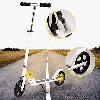 Bunao Big Wheel Scooter 200 mm - City Scooter suspensión Doble, Patinetes clásicos Plegable y Ajustable en Altura, Grande Kick Scooter para Adultos y ...
