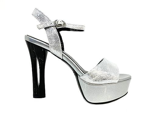 496e2f7692607 Mujer Alto Heel Elegantes Boda Shoes Ceremonia Pumps Woman Sandals  Matrimonio Zapatos Plateau Particular Plateado Sandalias ...