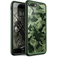 Funda iPhone 7 Plus, Carcasa iPhone 7 Plus, Supcase Unicorn Beetle Style Premium Carcasa Híbrida para Apple iPhone 7 Plus/ Apple iPhone 8 Plus (Camo / Verde)