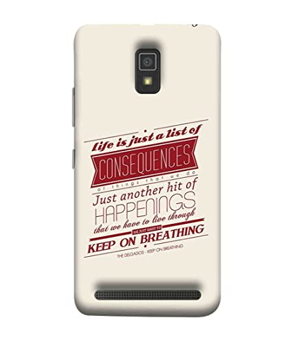 new product 127d1 667b8 Printfidaa Lenovo A6600 Back Cover Life is Just A List: Amazon.in ...