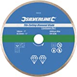 Silverline 993035 Disque diamant carrelage 180 x 22.2 mm