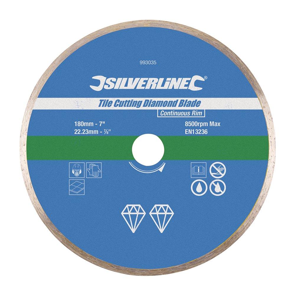 Silverline 993035 disque diamant carrelage 180 x 22 2 mm ebay - Disque coupe carrelage 180 mm ...