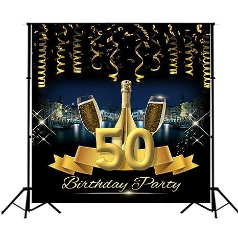 Telón de Fondo para fotografía, diseño de 50 cumpleaños