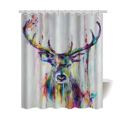 Coffee Shower Curtain Fabric Bathroom Decor Set With Hooks 4 Sizes Available