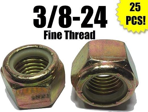 Stainless Steel Nylon Insert Lock Nuts 25 each 3//8-16