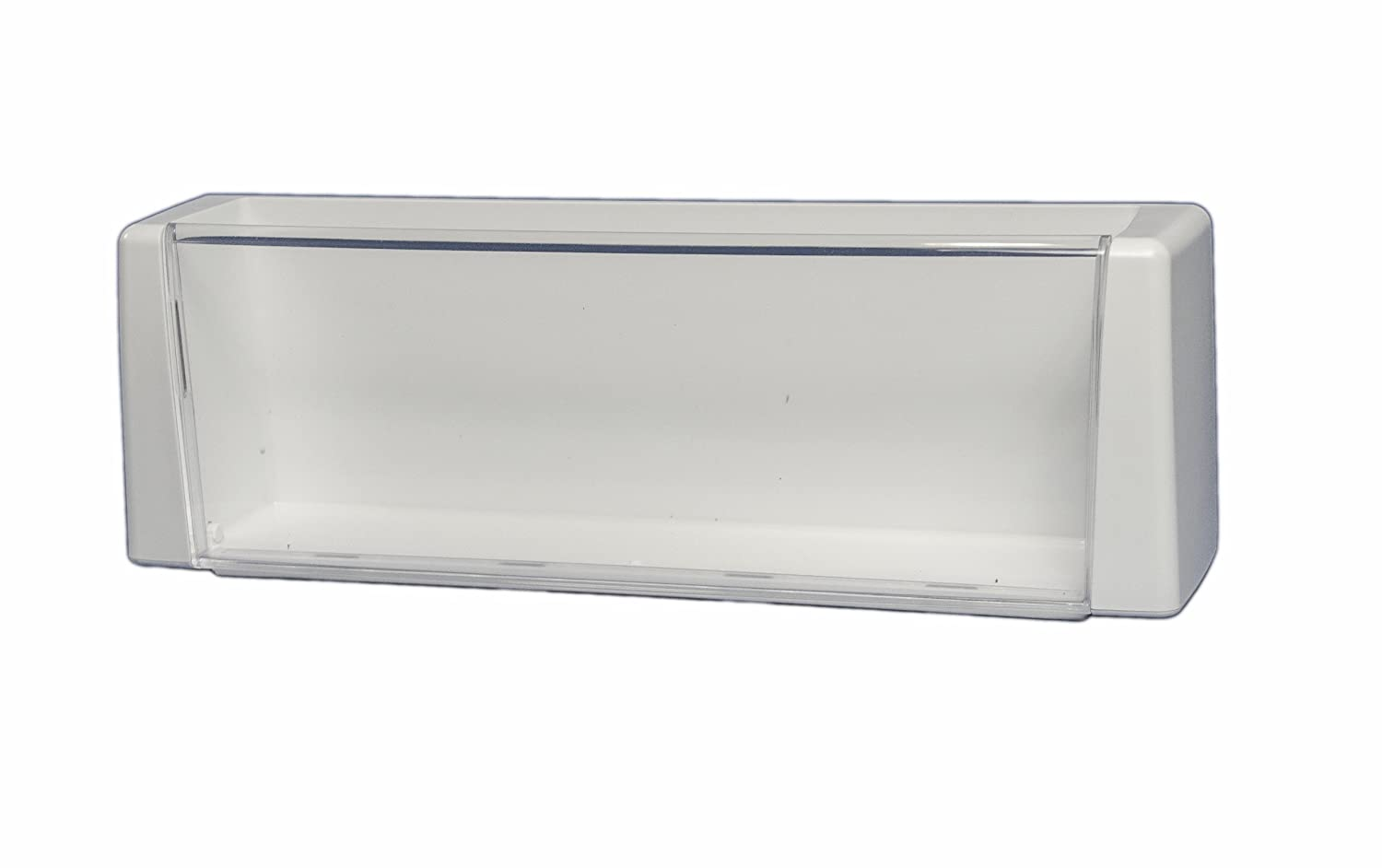 LG Electronics AAP33726606 Refrigerator Door Shelf/Bin. White with Clear Trim