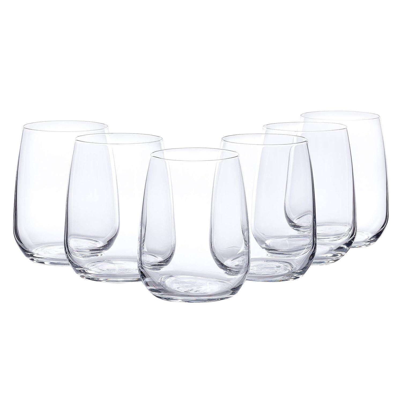 Bormioli Agua Cristal Set 'Premium' 6piezas   Calidad GASTRONÓMICA   cantidad de relleno para beber 43cl   Altura 10,7cm   perfecta brillianz Gracias a Star Glass Tecnología