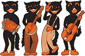 Beistle 4-Pack Scat Cat Band Cutouts, 17-Inch, 4 piece