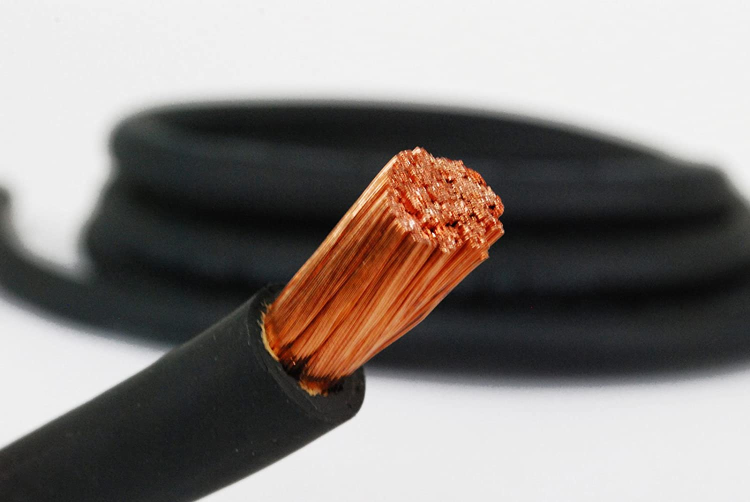 TEMCo WC0262-5 ft 3//0 Gauge AWG Welding Lead /& Car Battery Cable Copper Wire BLACK MADE IN USA