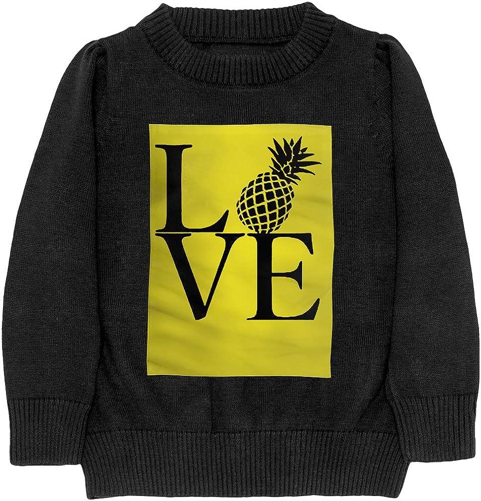 I Love Pineapple Casual Teenager Boys /& Girls Unisex Sweater Keep Warm