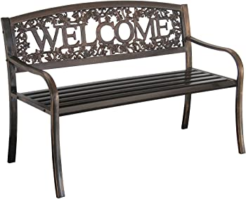 Leigh Country Metal Welcome Bench