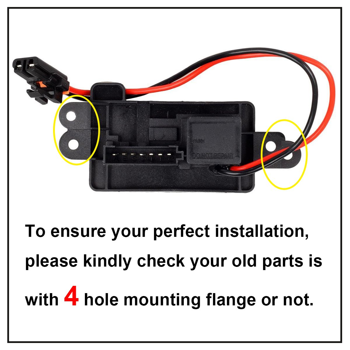 Partssquare 89019088 Manual Blower Motor Resistor 2001 Impala Fan Wiring Schematic Replacement For 2002 2003 2004 2005 2006 Chevrolet Avalanche 1500 2500 Gmc Yukon Xl
