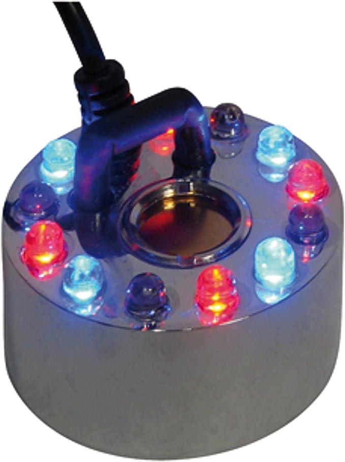 Relaxdays Nebulizzatore a ultrasuoni con 12 LED e gioco di colori