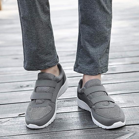 ❤ Zapatillas para Hombre de Deporte,Deportivas con Cordones Planas para Hombres Ocasionales Resistentes al Desgaste Antideslizante Zapatillas de Deporte ...