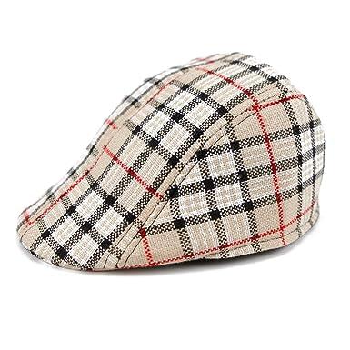 CHIC-CHIC Casquette Souple Hat Bébé Enfant Fille Garçon Chapeau Bob Béret  Carreaux Outdoor Solaire 27a139a02d5