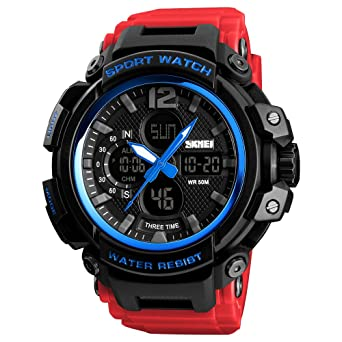 062a7f981 Image Unavailable. Image not available for. Color: SKMEI Digital Watch  Men's Sports Military Multifunctional Waterproof Wrist Watch LED Back Light  Stopwatch ...