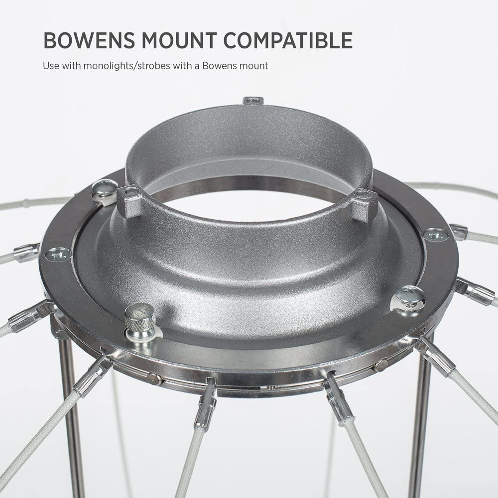 1x 25 inch Photography Lantern Softbox Diffuser w//Bowens Mount - Strobe /& Monolight Compatible Fovitec Carrying Case Included Flexible Fiberglass Frame