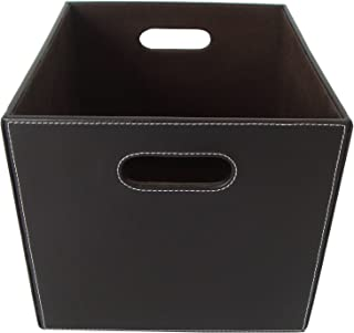 Organize It All Small Faux Leather Basket (Dark Brown)  sc 1 st  Amazon.com & Amazon.com: The Lucky Clover Trading Faux Leather Storage Basket ...