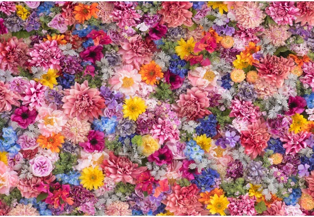 7/×5ft Photo Background Wall Vinyl Balcony Bright Flowers Wreath Basket Digitally Printed Backdrop for Girl//Boy Baby Shower Backdrop Home Background Wall Photography Backdrop for Photo Studio
