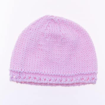 Baby Girl Hats 100% Cotton Handmade  0 - 3 Months - Pink  Amazon.co.uk  Baby eb77de1724d2