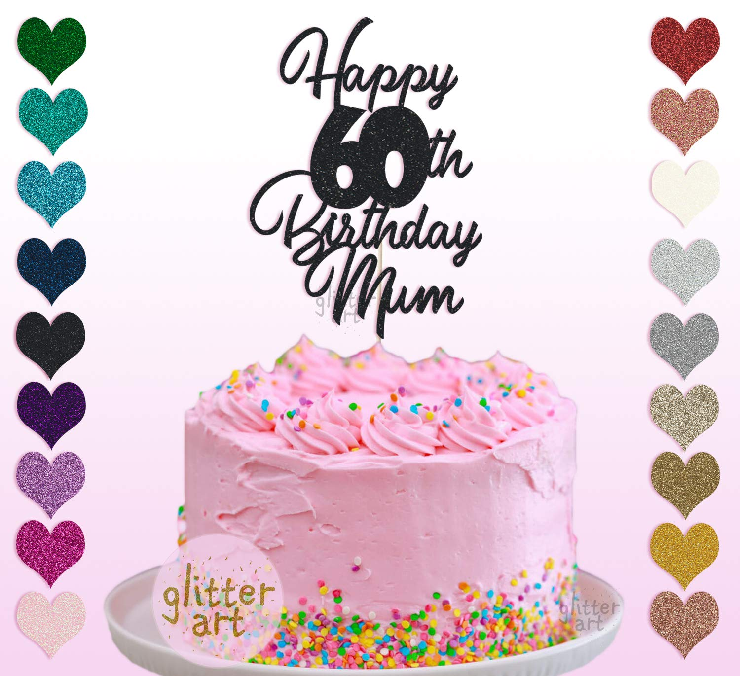 Awesome Personalised Custom Happy 60Th Birthday Mum Party Cake Topper Name Funny Birthday Cards Online Bapapcheapnameinfo