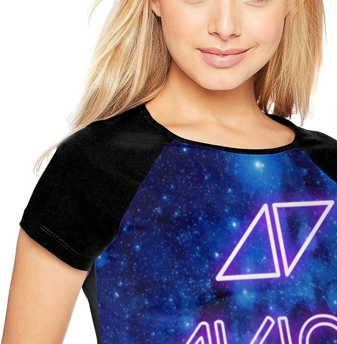HarryShort Frauen Baseball Uniform mit kurzen /Ärmeln T-Shirt /Avicii Bedrucktes T-Shirt f/ür Erwachsene Sport Wear T-Shirts Jerseys