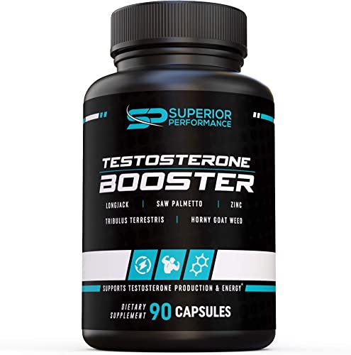 New Superior Performance Testosterone Booster 30 Servings Increase Muscle Mass, Fat Burning, Energy Tribulus Terrestris Horny Goat Weed