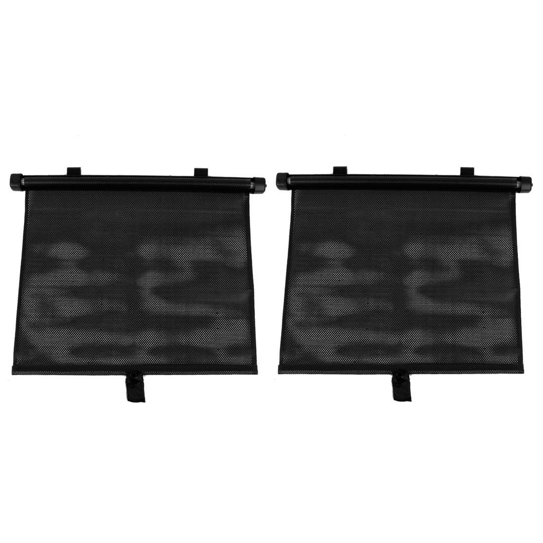 sourcing map Sourcingmap® 2 Uds Parabrisas Negro Sol Sombrilla Visera Quitasol para Ventanilla Trasera Coche Auto 48cm x 36cm a14032000ux0125