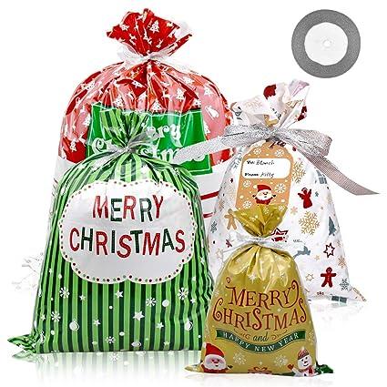 30 Piezas Bolsas de Regalo de Navidad Bolsa Regalo con ...