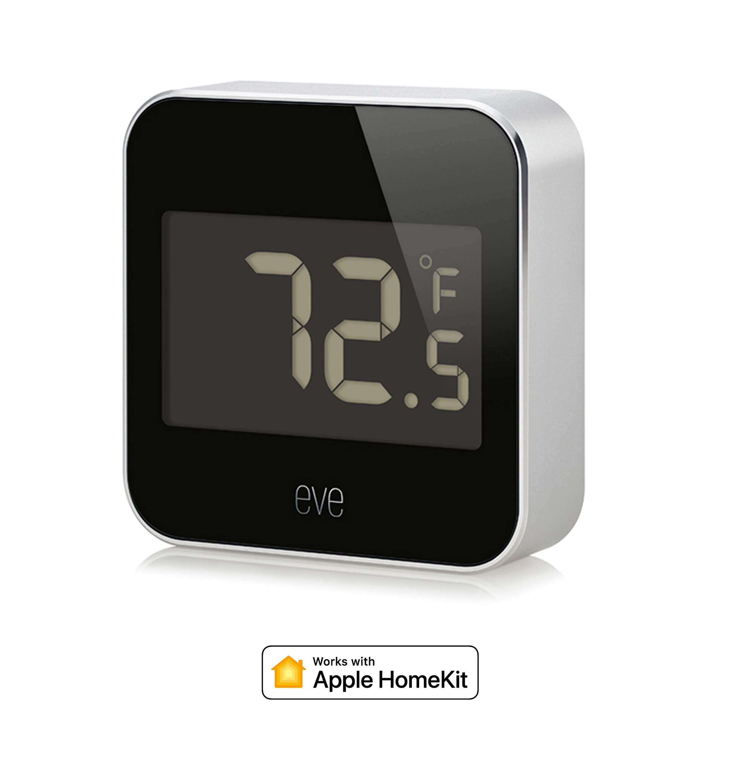 Eve Degree - Connected Weather Station with Apple HomeKit Technology for Tracking Temperature, Humidity & air Pressure, IPX3 Water Resistance, LCD Display, Bluetooth Low Energy
