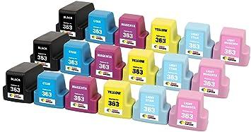 TONER EXPERTE® 18 XL Cartuchos de Tinta compatibles con HP 363 ...