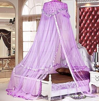 Sinotop Luxury Princess Bed Net Canopy Round Hoop Netting Mosquito Net Bedroom Decor (purple)  sc 1 st  Amazon.com & Amazon.com : Sinotop Luxury Princess Bed Net Canopy Round Hoop ...
