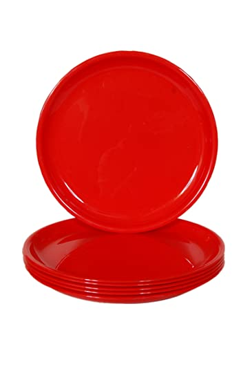 Day2Day Forever Red Microwave Safe Dinner Plates Set Pack of 6 (27x27x2 cm)  sc 1 st  Amazon.in & Buy Day2Day Forever Red Microwave Safe Dinner Plates Set Pack of 6 ...