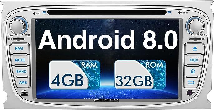 Pumpkin Android 8.0 Auto Radio Radio para Ford Focus Mondeo con ...