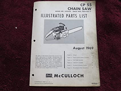 Amazon com: McCulloch Chainsaw CP 55 Illustrated Parts List -BOX2005
