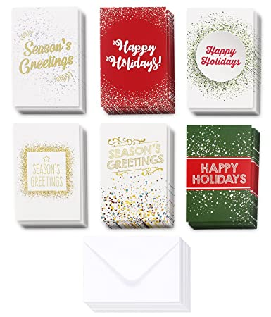 Amazon 36 pack merry christmas greeting cards bulk box set 36 pack merry christmas greeting cards bulk box set winter holiday xmas greeting cards m4hsunfo